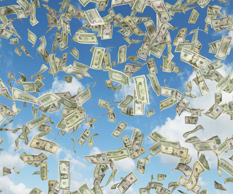 Falla för dollarsedel arkivbilder