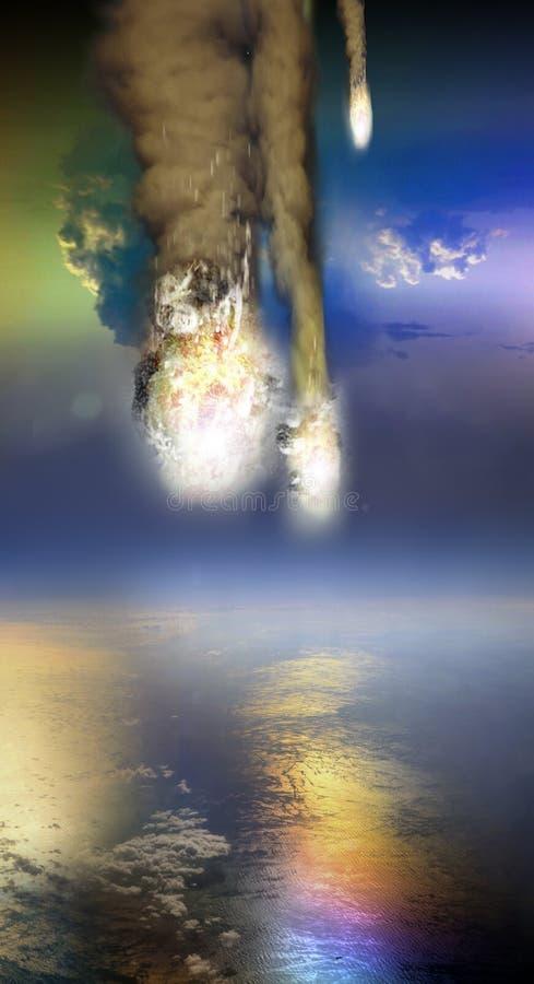 Falla f?r meteor stock illustrationer
