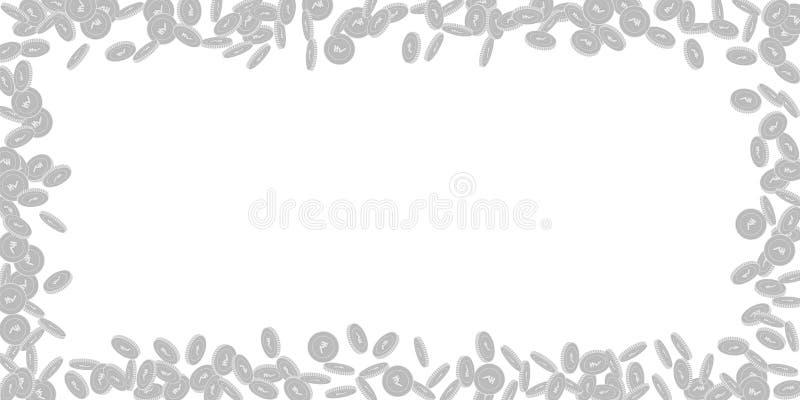 Falla f?r mynt f?r indisk rupie Spritt svart och wh royaltyfri illustrationer