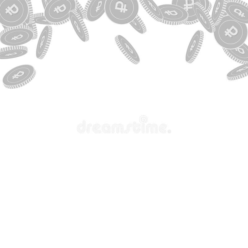 Falla f?r mynt f?r rysk rubel Spridd svart och w vektor illustrationer