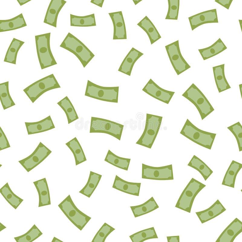 Fallande design för lägenhet för pengarvektorillustration royaltyfri illustrationer