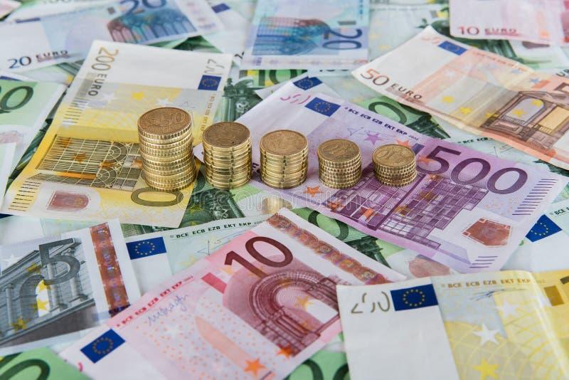 Fallande europrognoser royaltyfri bild