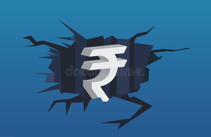 fallande finansiell hastighet f?r krisdiagram royaltyfria bilder
