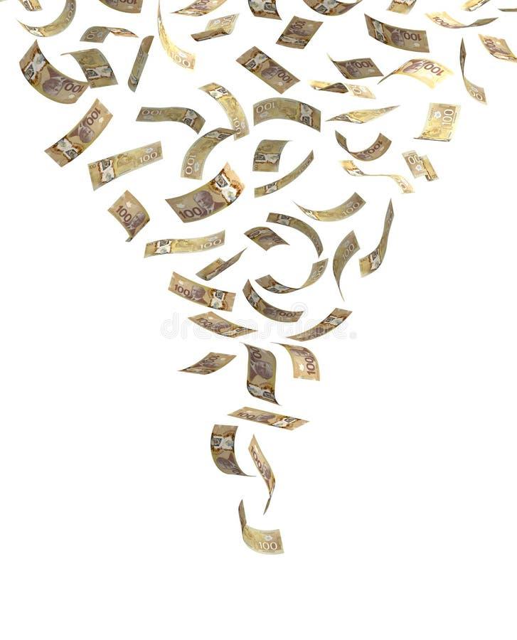 Fallande kanadensisk dollar vektor illustrationer