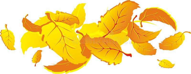 fallande leaves för höst vektor illustrationer