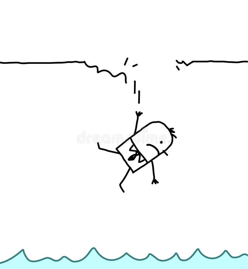 fallande man vektor illustrationer