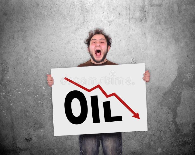Fallande olje- diagram arkivbilder