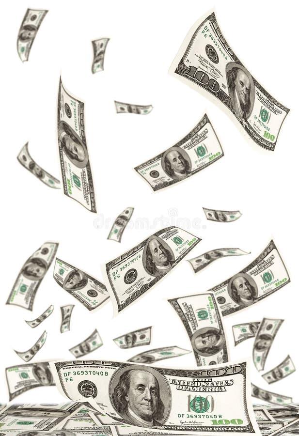 fallande pengar royaltyfri illustrationer