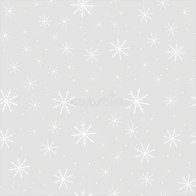 Fallande snö för jul som isoleras på mörk bakgrund Genomskinlig garneringeffekt för snöflinga Modell för Xmas-snöflinga magi royaltyfri illustrationer