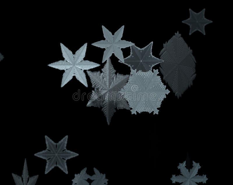 Fallande snö isolerad bakgrund för jul Modell för Xmas-snöflinga Snöfalltextur Vintersnöstormbakgrund 3d royaltyfri illustrationer