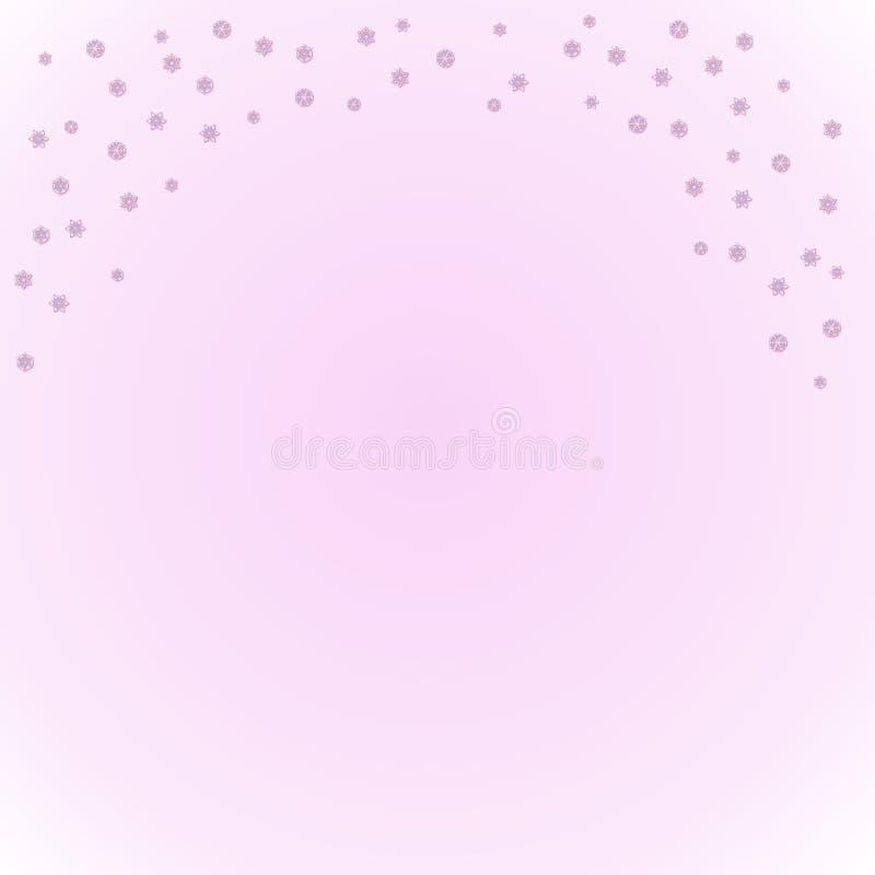 fallande snow vektor illustrationer