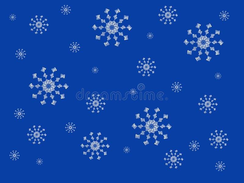 fallande snowflakes vektor illustrationer