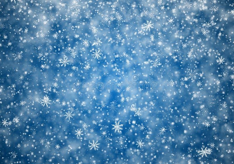 Fallande snowflakes, snow bakgrund arkivfoton