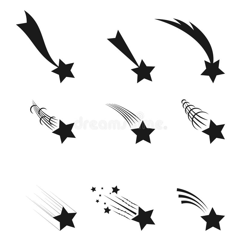 fallande stjärnor vektor illustrationer
