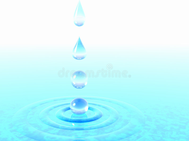 fallande vatten för droppar stock illustrationer