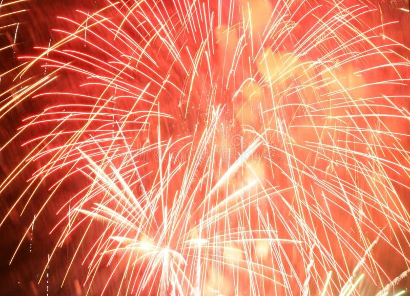 Fallas fireworks stock photo