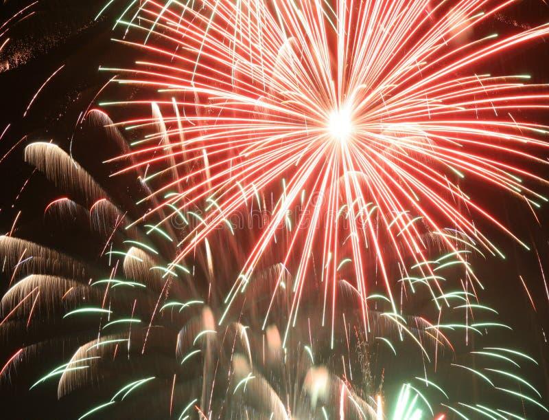 Fallas fireworks stock image