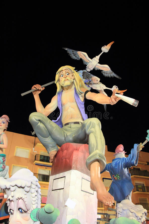 Download Fallas Valencia Papier Mache Popular Fest Figures Editorial Photography - Image: 20987362