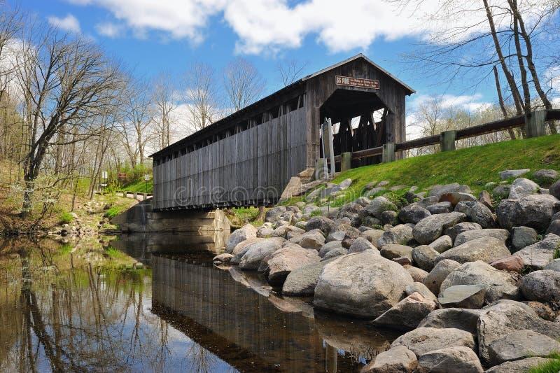 Fallasburg Covered Bridge Lowell Michigan,USA royalty free stock photography