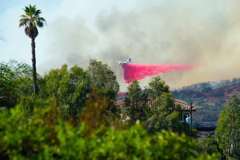 Rock Fire San Diego California royalty free stock image