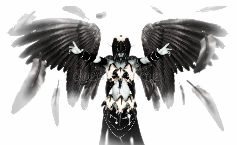 Download Fallen angel stock illustration. Image of evil, isolated - 14469751