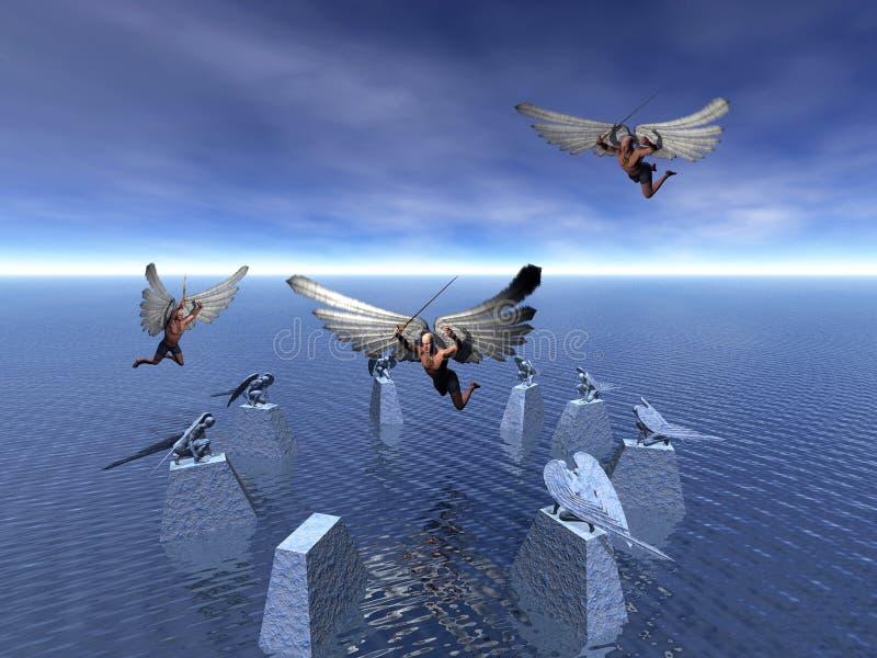 Fallen angel. royalty free illustration