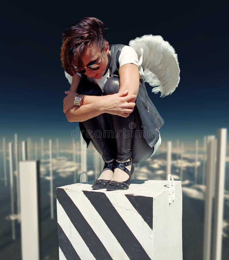 Download Fallen angel stock photo. Image of fantasy, beauty, black - 15946618