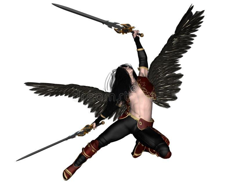 Fallen Angel - 3 royalty free illustration
