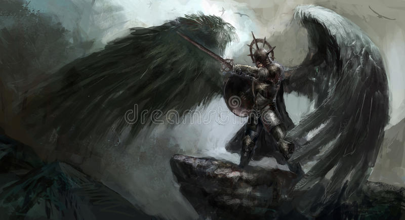 Fallen angel stock illustration
