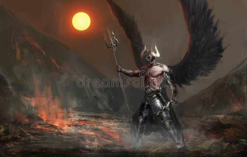Fallen angel. Dead knight or fallen angel