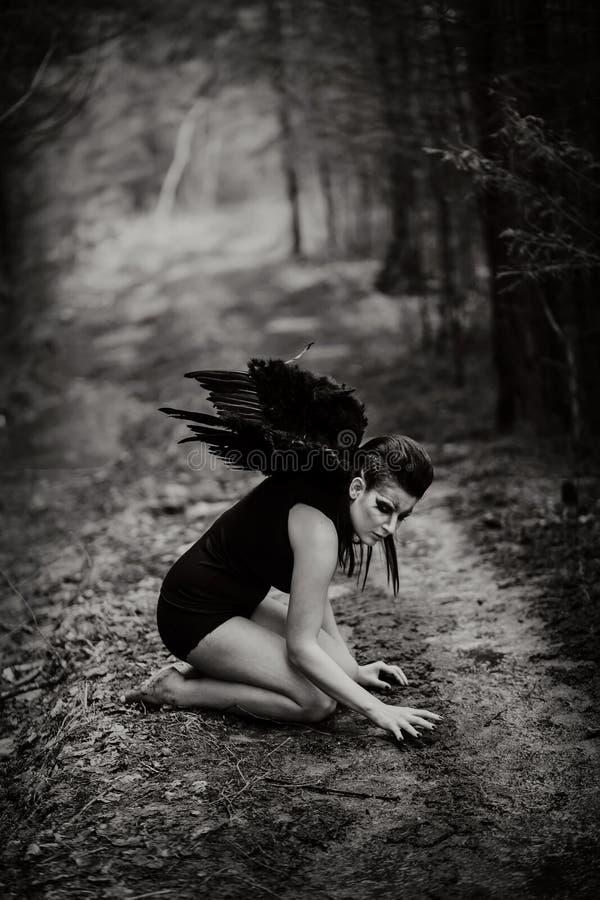 Fallen angel stock image