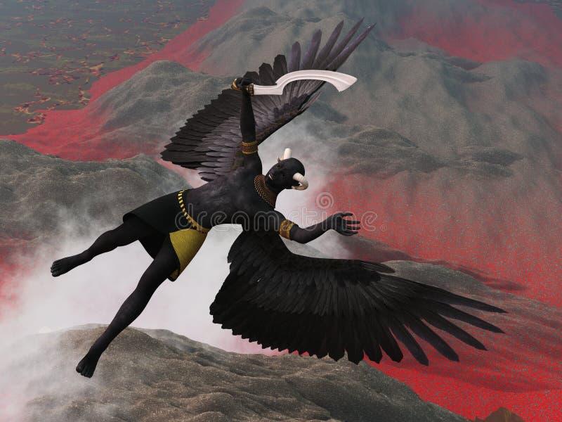 Download Fallen archangel stock illustration. Illustration of story - 20959380
