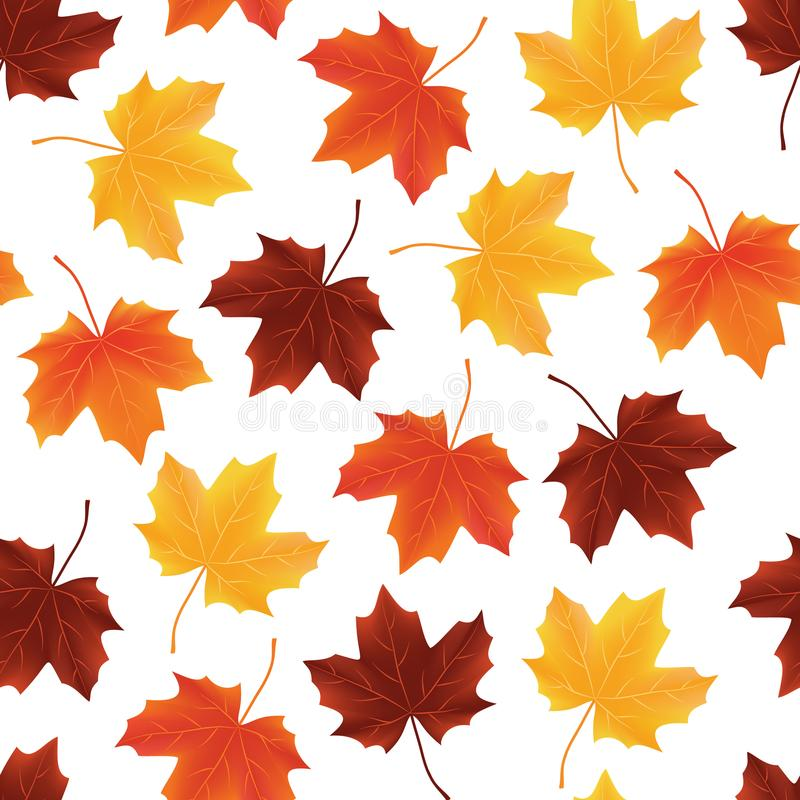 Fallen autumn leaves seamless background pattern texture royalty free stock photo