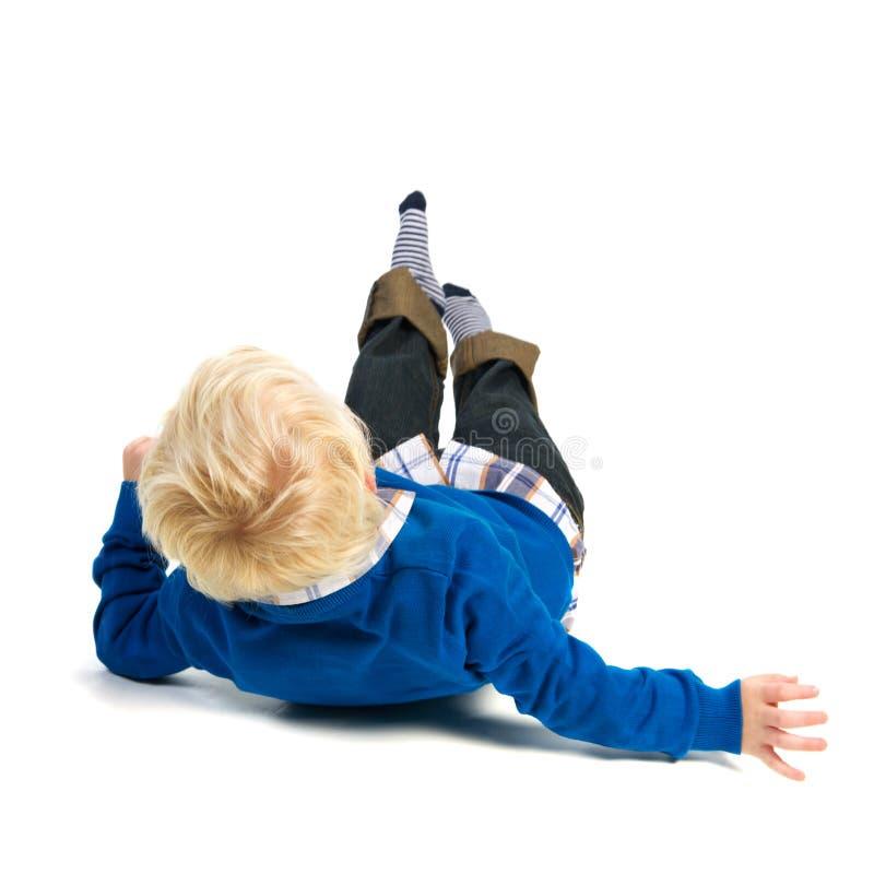 Download Fallen child stock photo. Image of studio, blond, little - 24178102
