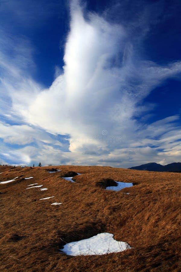 Fallen cloud royalty free stock photos