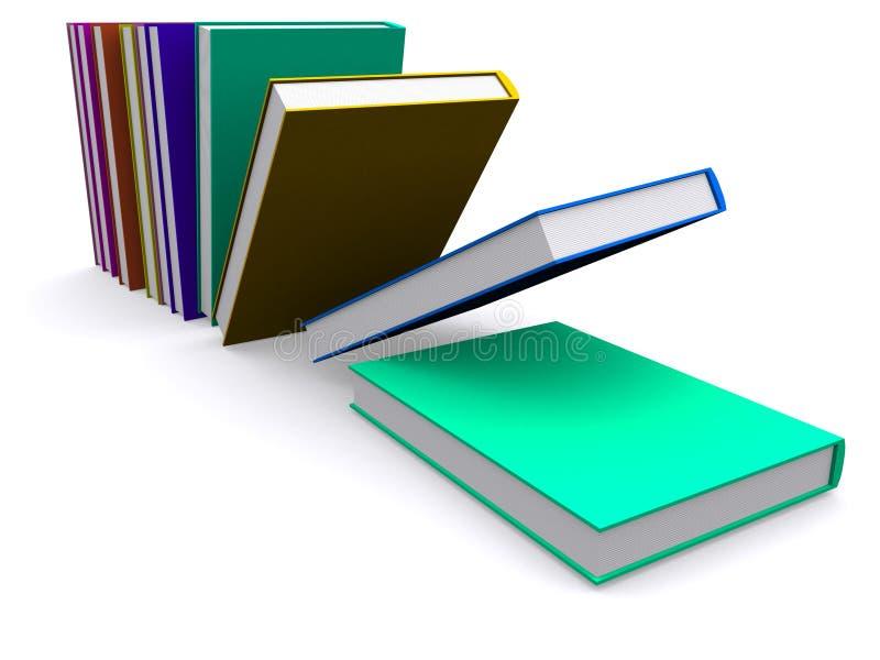 Fallen der Bücher 3d vektor abbildung