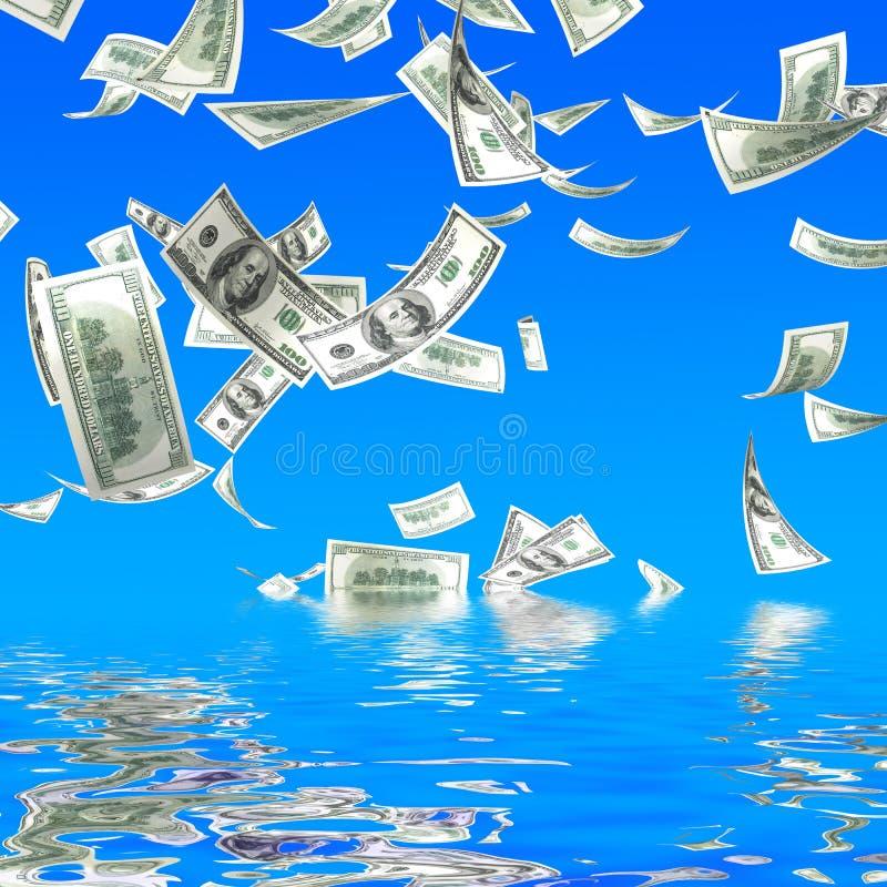Fallen des Geldes 3d stock abbildung