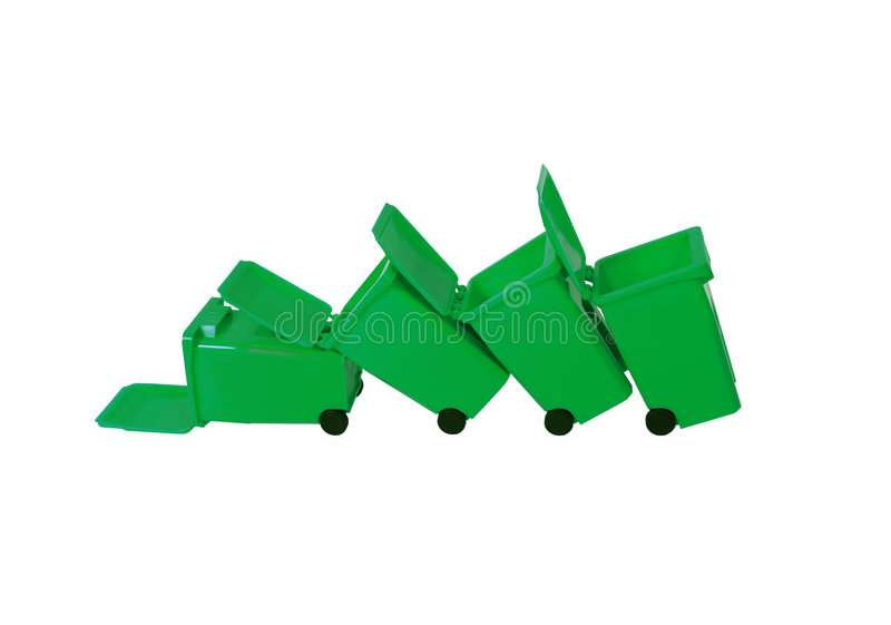 Download Fallen Recycling bins stock image. Image of natural, contain - 7193673