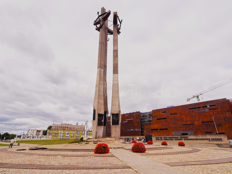Fallen Shipyard Workers Monument in Gdansk, Poland. Monument of the Fallen Shipyard Workers also known as Solidarity Monument in Gdansk, Poland stock images