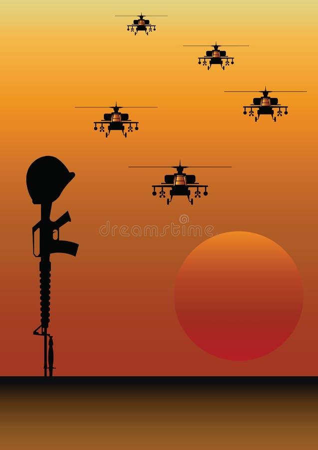 Fallen Soldier stock illustration