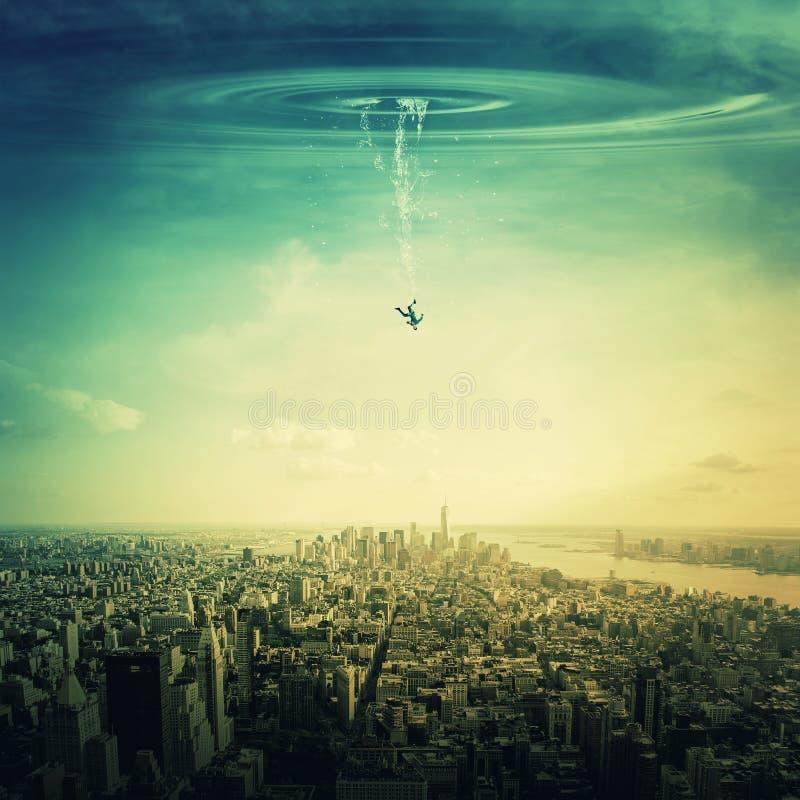 Fallen vom Himmel stockfotos