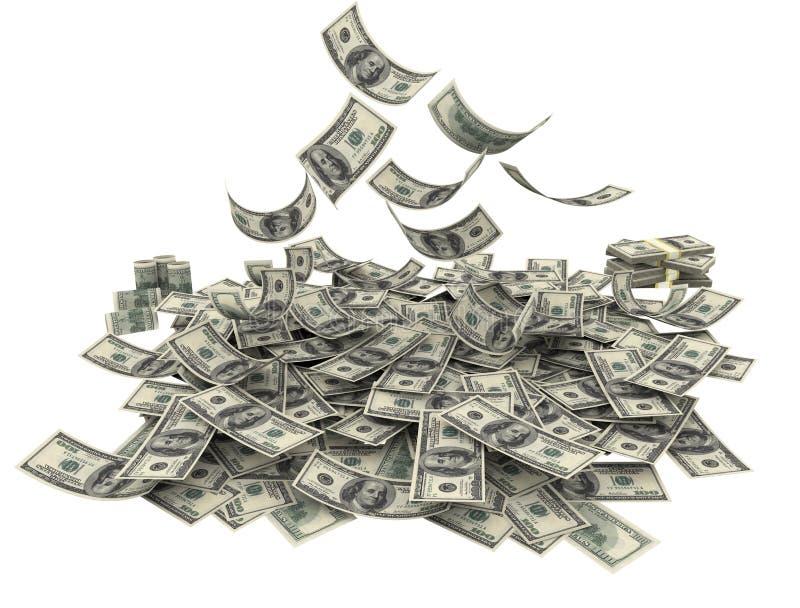 Fallende amerikanische Währung lizenzfreie stockfotos
