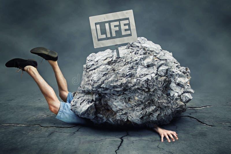 Fallende Felsen lizenzfreie stockbilder