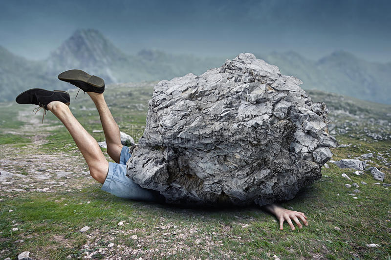 Fallende Felsen stockfoto