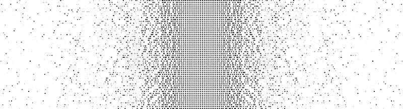 Fallende Pixel Pixelabstraktes Mosaikdesign Halfton-Effekt Vom Chaos zur Ordnung Big Data, intelligentes System lizenzfreie abbildung