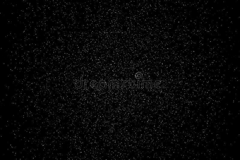 Fallende Pulverfunkelnkonfettis Explosion auf schwarzem Hintergrund, vektor abbildung