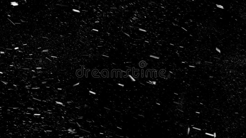 Fallende Schneeflocken Beautuful von links nach rechts, Lech, Weitwinkel lizenzfreie stockfotos