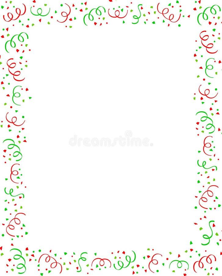 Fallender Confettirand lizenzfreie abbildung