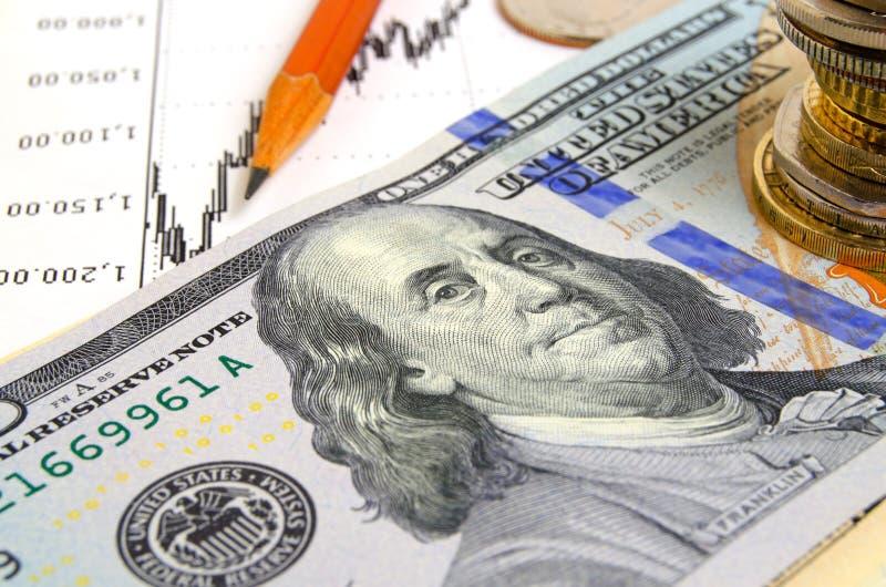 Fallender Dollar lizenzfreies stockbild