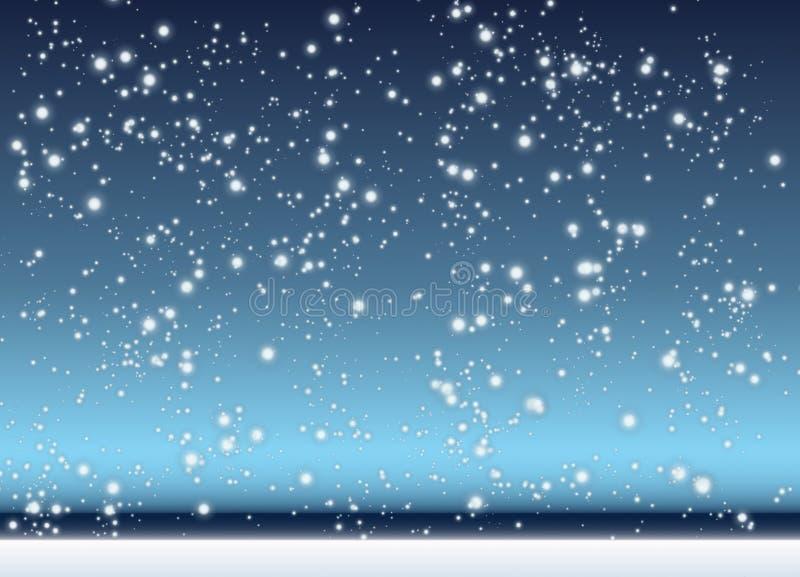 Fallender Schnee stockfoto